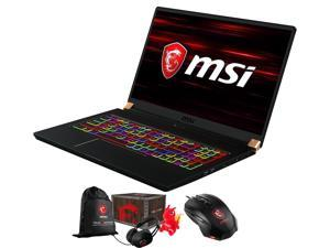 "MSI GS75 Stealth-205 Gaming and Entertainment Laptop (Intel i7-8750H 6-Core, 64GB RAM, 512GB PCIe SSD, 17.3"" Full HD (1920x1080), NVIDIA RTX 2060, Wifi, Win 10 Home) with Gaming Mouse , Loot Box"