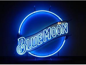 Fashion Neon Sign Blue Moon Neon Light Handcrafted Real Glass Lamp Neon Light Neon Sign Beerbar Sign Neon Beer Sign 19x15