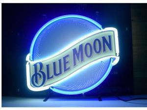 Fashion Neon Sign New Blue Moon Neon Light Sign Handcrafted Real Glass Lamp Neon Light Neon Sign Beerbar Sign Neon Beer Sign 19x15