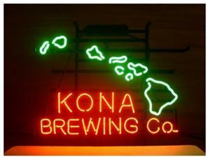 Fashion Neon Sign KONA BREWING COMPANY Handcrafted Real Glass Lamp Neon Light Neon Sign Beerbar Sign Neon Beer Sign 19x15
