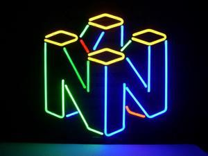 Fashion Neon Sign Nintendo 64 Real Glass Handcrafted Real Glass Lamp Neon Light Neon Sign Beerbar Sign Neon Beer Sign 19x15