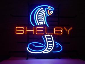 Fashion Neon Sign SHELBY MUSTANG COBRA FORD GT Handcrafted Real Glass Lamp Neon Light Neon Sign Beerbar Sign Neon Beer Sign 19x15