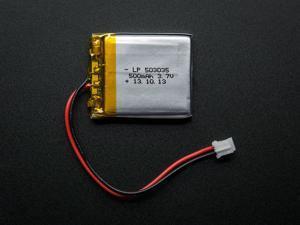 Adafruit 1578 Lithium Ion Polymer Battery - 3.7v 500mAh