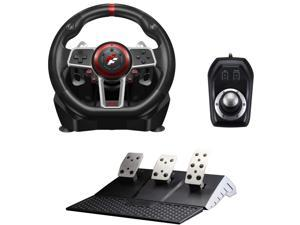 Flashfire Suzuka 900R Racing Wheel Set with Clutch Pedals and H-Shifter for Xbox, Xbox 360, PS3, PS4, Wii, PC