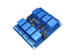 8-Channel Micro USB Relay Module 5V PLC Upper Computer Control Board