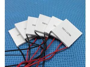 5pcs TEC1-12706 Semiconductor Thermoelectric Cooler Peltier Cooling Plate Module 12V 60W 92Wmax 40X40mm