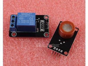 MQ-7 CO Gas Sensor Module MQ7 Natural Gas TTL Output + 5V 1 Channel Relay Module