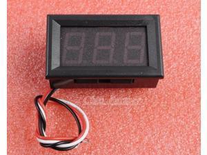 Red LED Panel Meter Digital Voltmeter DC 0-30V with box