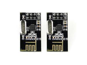 2pcs Arduino NRF24L01+ 2.4GHz RF Wireless Transceiver Module ISM Breakout