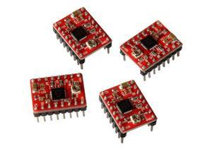 4pcs A4988 Stepper Motor Driver Module Red PCB with Heat Sink for CNC 3D Printer RepRap StepStick