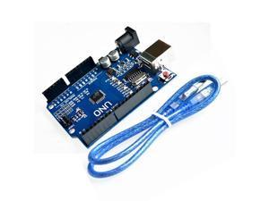 UNO R3 Development Board Microcontroller with USB Cable ATmega328P suitable for Arduino Win Mac