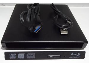 USB 3.0 External Slim Case Caddy For SATA Laptop CD/DVD RW Blu-ray Burner drive