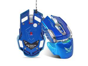 ZERODATE X900 Gaming Mouse Breathing Light Ergonomic 7 Buttons Wired USB Mechanical Mouse with 3200DPI for PC Gamer