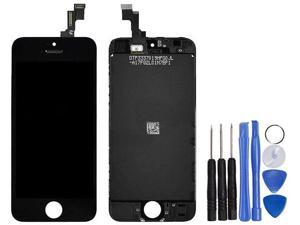 Full Set LCD Screen Replacement Digitizer Assembly Display Touch Panel Black for iPhone 5C + Free Repair Tool Kits