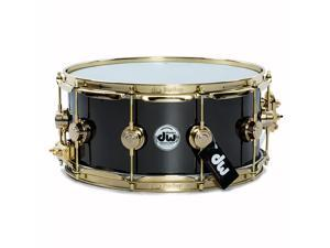 Drum Workshop 14x6.5 Black Nickel Over Brass Snare Drum w/ Gold Hardware
