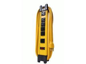 Woods Pro 4658 6 Outlet Metal Power Strip, 10 foot cord, Yellow
