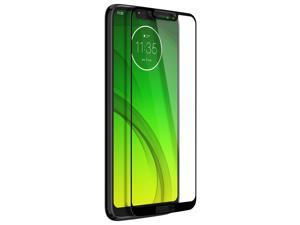 Tempered glass screen protector for Motorola Moto G7 Power colored edges - Black