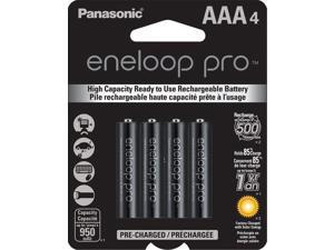 panasonic bk4hcca4ba eneloop pro aaa high capacity nimh precharged rechargeable batteries, 4 pack