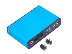 External USB 2.0 Sound Card 6 Channel S PDIF 5.1 Optical Audio Surround Sound Card Converter for PC Laptop