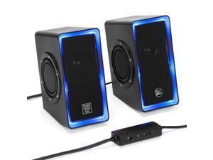 GOgroove SonaVERSE O2i Glowing LED Computer Speaker System - Black