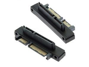 SATA 22 Pin Male to 22 Pin Female Right Angle Adapter
