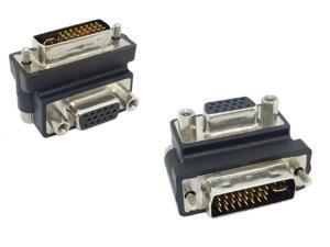 DVI 24+5 Male  to VGA 15 Female  90 Adapter