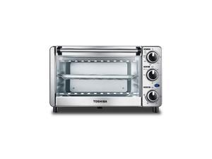Toshiba MC25CEY-SS 6 Slice Small Convection Pizza Toaster Oven, Stainless Steel