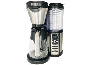 Ninja CF080Q Coffee Maker Auto-iQ Coffee Maker With Glass Jar Black / Silver Make Your Own Delicious Coffee Drinks (Renewed)