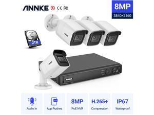 ANNKE H800 True 4K Ultra HD PoE System with Audio Record with 2TB Supports 256 GB TF Card Remote Access