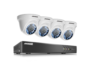 ANNKE 1080P Home Surveillance Camera System Including 4 Channel 3MP (1920x1536p) DVR within NO Hard Drive and 4x1080P (2.0MP) Outdoor Security Cameras