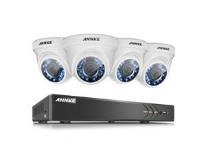 ANNKE 8CH 3.0MP Home Security Camera System W/ 4x HD 1080P 2.0MP waterproof Night vision Fixed Surveillance Camera, Super Night Vision, NO HDD Included