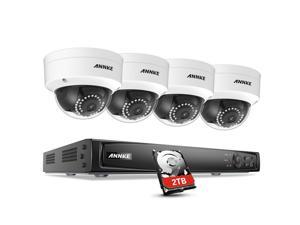 ANNKE 1080P POE Security Camera System Kit with 4CH 6.0MP NVR and 4 Weatherproof Onvif IP Dome Camera (2TB HDD)