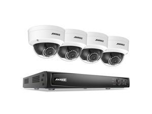ANNKE 1080P POE Security Camera System Kit with 8CH NVR and 4 Onvif IP Dome Camera (No HDD)
