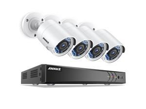 ANNKE 8 Channel 3MP CCTV Camera Security System with (4)1080P Full HD Outdoor CCTV Camera, IP66 Weatherproof, Email Alarm with Image, Phone Access