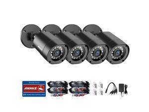 ANNKE 4 Packed 1080P CCTV BUllet Camera Kits with BNC Cables, IP66 Weatherproof Home Security System with Super Night Vision