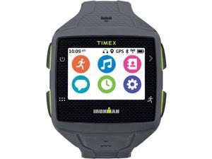 Timex Men TW5K89000 Ironman One GPS+ Smartwatch Fitness Tracker Gray/Lime Green