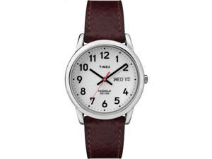 Timex Men's Easy Reader | Silver-Tone Case | Brown Leather Watch T20041