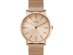 Timex Women's Metropolitan 40mm Bracelet  Rose Gold-Tone  Watch TW2R49400