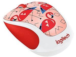 Logitech M325C Wireless Optical Mouse Flamingo
