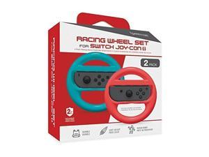 Hyperkin Racing Wheel Set For Joy-Con Blue/ Red 2-pack For Nintendo Switch Gamepad EJK468
