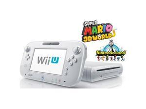 Wii U Deluxe Set 8GB White With Super Mario 3D World And Nintendo Land