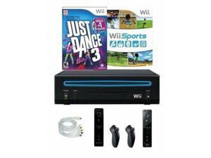 Nintendo Wii Console Bundle With Just Dance 3 Wii Sports And 2 Controllers