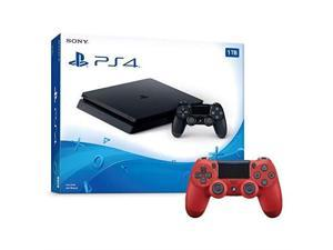 e6f85c51bbc4 PlayStation 4 1TB Slim Console And Extra Red Dualshock ...