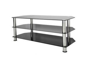 AVF Glass TV Stand With chrome legs