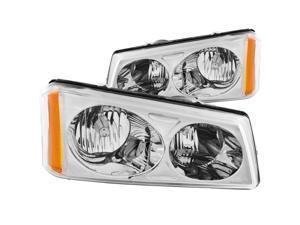 Anzo USA 111010 Chevrolet Avalanche/Silverado Crystal Chrome Headlight Assembly