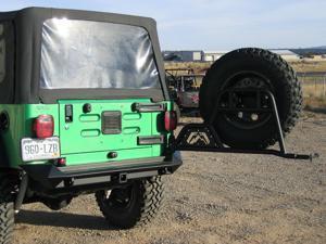 Fab Fours JP-Y1251T-1 Spare Tire Carrier Fits 97-18 TJ Wrangler Wrangler (JK)