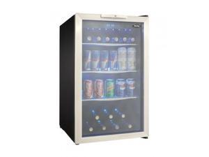 """Danby  DBC039A1BDB 20"""" Freestanding Beverage Center with 4.3 cu. ft. Capacity  Tempered Glass Door with Stainless"""