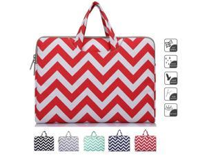 Mosiso - Chevron  Red Canvas Fabric 15-15.6 Inch Laptop / Notebook Computer / MacBook / MacBook Air / MacBook Pro Briefcase Carry Case (Internal Dimensions: 15.75 x 0.79 x 11.61 inches)