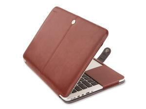 Mosiso MacBook Air 13.3 Sleeve Case, Premium Quality PU Leather Book Cover Clip On Folio Case Cover with Stand Function for 13 inch Macbook Air (A1466 & A1369)
