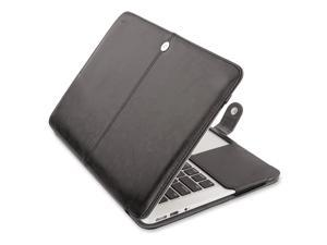 """Mosiso Retina 15-Inch Premium Quality PU Leather Book Cover Clip On Sleeve Case Cover for MacBook Pro 15.4"""" with Retina Display A1398 (No CD-Rom Drive) with One Year Warranty"""